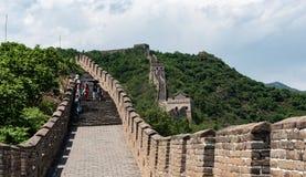 Mutianyu部分的长城在北京之外 图库摄影