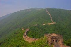 长城视图在Mutianyu的 免版税库存照片