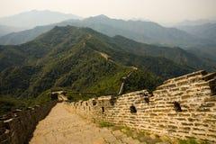 Mutianyu Great Wall. Mutianyu, a touristy restored section of the Great Wall of China stock photos
