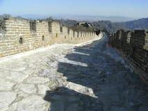 Mutianyu Great Wall. Near the well-known Jiankou section, in Huairou, Beijing. Taken in Feb. 2010, winter stock images