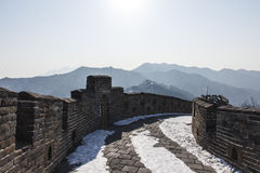 Mutianyu Great Wall. Mutianyu is a section of the Great Wall of China royalty free stock photography