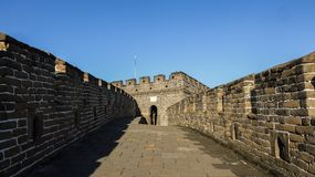 Mutianyu Great Wall. This is Mutianyu Great Wall of Beijing, China, which was photographed at dusk in autumn Royalty Free Stock Photo