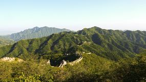 Mutianyu Great Wall. This is Mutianyu Great Wall of Beijing, China, which was photographed at dusk in autumn stock photos