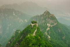 Mutianyu Great Wall in China. The Arrow buckle the Great Wall is the part of Mutianyu Great Wall in Beijing Huairou,it is the famous part of the Great Wall that stock images