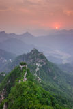Mutianyu Great Wall in China. The Arrow buckle the Great Wall is the part of Mutianyu Great Wall in Beijing Huairou,it is the famous part of the Great Wall that royalty free stock images