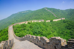 Mutianyu Great Wall in China. Mutianyu Great Wall in Beijing Huairou,it is the famous part of the Great Wall that was built in Ming Dynasty.In ancient China,the stock photography