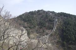 Mutianyu Great Wall spring time. Mutianyu was built in Ming Dynasty. It is popular for China visitors stock photography