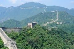 Mutianyu Greatwall av Peking, Kina royaltyfri bild