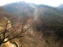 Mutianyu Greatwall. The Mutianyu Greatwall of China in the fog Royalty Free Stock Image