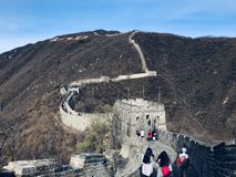 mutianyu greatwall in daling stock afbeeldingen
