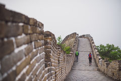Mutianyu section of Great Wall of China. Mutianyu was fully restored in the 1980s to handle some of the overflow from the increasingly popular Badaling section stock photography