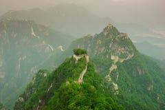 Mutianyu stor vägg i Kina Arkivbilder