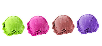 Muticolor scoop ice cream Royalty Free Stock Photography