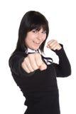 Mutige junge Frau stockfoto