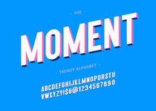 Mutige Typografie des Vektormoment-Schriftbildes 3d Stock Abbildung