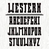 Mutiger Serifguß in der Westart Lizenzfreie Stockfotografie