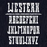 Mutiger Serifguß in der Westart Lizenzfreie Stockfotos