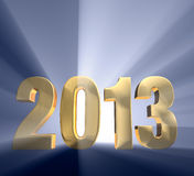 Mutiges Jahr 2013 Stockbild