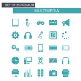 Mutimedia icons set vector royalty free illustration
