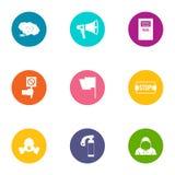 Mutiny icons set, flat style. Mutiny icons set. Flat set of 9 mutiny vector icons for web isolated on white background vector illustration