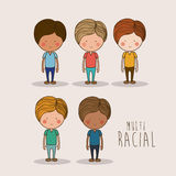 Mutiracial design ,vector illustration. Stock Images