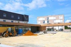 Mutlangen, Germania giugno 17,2018: Costruzione di una comunità b Immagine Stock Libera da Diritti