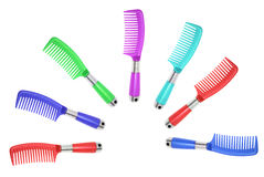 Mutli-colored Combs Stock Image