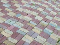 Mutlicolored trottoar Fotografering för Bildbyråer