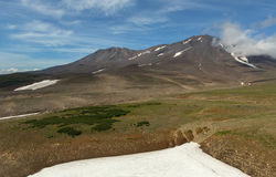 Mutnovsky is a complex volcano located in the southern part of Kamchatka Peninsula. Royalty Free Stock Photography