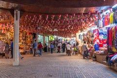 卖纪念品的商店,在Mutrah,马斯喀特,阿曼,中东 库存图片