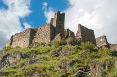 Mutso - fortress in Georgia Royalty Free Stock Photography