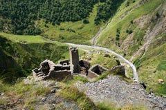 Mutso village ruins Royalty Free Stock Photos