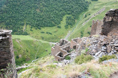 Mutso village ruins Royalty Free Stock Image