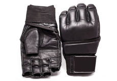 MUTTAHIDA MAJLIS-E-AMAL的手套在白色背景 免版税库存照片