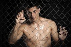 Muttahida Majlis-e-Amal de combattant d'arts martiaux de mélange photos stock