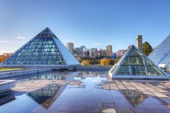 Muttart Conservatory in Edmonton, Canada Royalty Free Stock Images