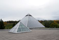 Muttart Conservatory Edmonton With Two Pyramids royalty free stock photography