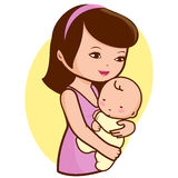 Mutter, die Baby hält Lizenzfreie Stockfotos