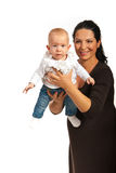 Mutter, die mit ihrem Baby spielt Lizenzfreies Stockfoto