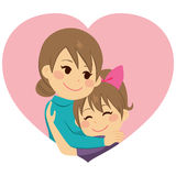Mutter, die Tochter umarmt vektor abbildung