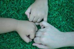 Mutter gewöhnt gewesen an Hand Liebe für immer stockbilder