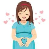 Mutter-Herzform Stockbild