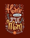 Mutter ist ein wirkliches superheroHome ist whehre, das Ihre Mutter ist Beschriftungs-COM Stockbilder