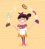 Mutter - Küchesuperheld lizenzfreie abbildung