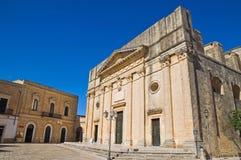 Mutter-Kirche. Alessano. Puglia. Italien. stockfotografie