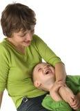 Mutter mit dem Kind Lizenzfreies Stockfoto