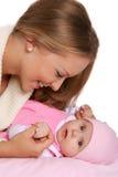 Mutter mit ihrem Kind Stockfotos