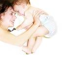 Mutter mit ihrem Schätzchen Stockbilder