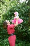 Mutter mit ihrer Tochter Lizenzfreies Stockbild