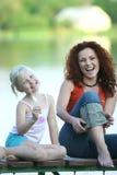 Mutter mit ihrer Tochter Lizenzfreie Stockfotografie